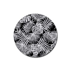 Tropical Pattern Rubber Round Coaster (4 Pack)  by ValentinaDesign