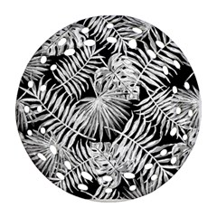 Tropical Pattern Ornament (round Filigree) by ValentinaDesign