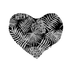 Tropical Pattern Standard 16  Premium Heart Shape Cushions by ValentinaDesign