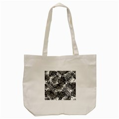 Tropical Pattern Tote Bag (cream) by ValentinaDesign