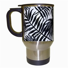 Tropical Pattern Travel Mugs (white) by ValentinaDesign