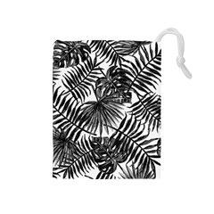 Tropical Pattern Drawstring Pouches (medium)  by ValentinaDesign