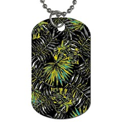 Tropical Pattern Dog Tag (two Sides) by ValentinaDesign