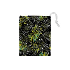 Tropical Pattern Drawstring Pouches (small)  by ValentinaDesign