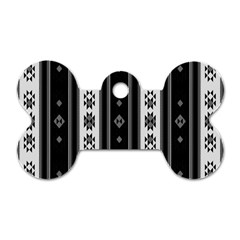 Folklore Pattern Dog Tag Bone (two Sides) by ValentinaDesign