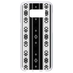 Folklore Pattern Samsung Galaxy S8 White Seamless Case