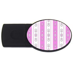 Folklore Pattern Usb Flash Drive Oval (4 Gb) by ValentinaDesign