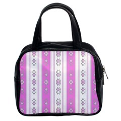 Folklore Pattern Classic Handbags (2 Sides) by ValentinaDesign