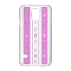 Folklore Pattern Samsung Galaxy S5 Case (white) by ValentinaDesign