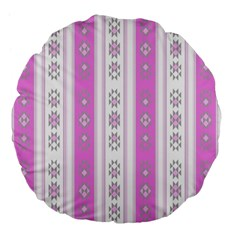 Folklore Pattern Large 18  Premium Flano Round Cushions by ValentinaDesign
