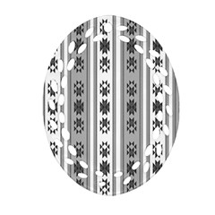 Folklore Pattern Oval Filigree Ornament (two Sides) by ValentinaDesign