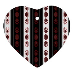 Folklore Pattern Ornament (heart)