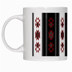 Folklore Pattern White Mugs by ValentinaDesign