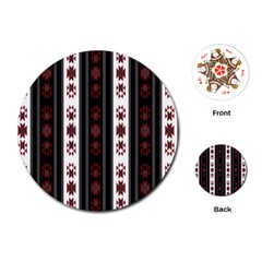 Folklore Pattern Playing Cards (round)  by ValentinaDesign