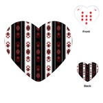 Folklore pattern Playing Cards (Heart)  Front