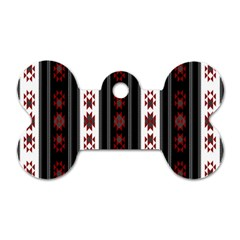 Folklore Pattern Dog Tag Bone (one Side) by ValentinaDesign