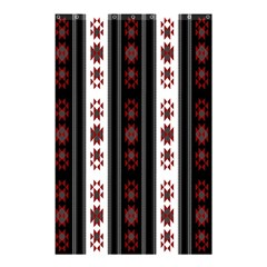 Folklore Pattern Shower Curtain 48  X 72  (small)  by ValentinaDesign