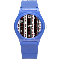 Folklore Pattern Round Plastic Sport Watch (s) by ValentinaDesign