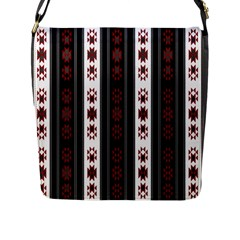 Folklore Pattern Flap Messenger Bag (l)  by ValentinaDesign