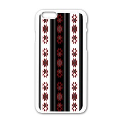 Folklore Pattern Apple Iphone 6/6s White Enamel Case by ValentinaDesign
