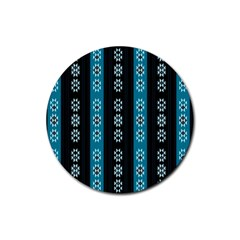 Folklore Pattern Rubber Round Coaster (4 Pack)  by ValentinaDesign