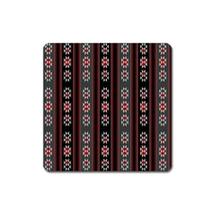 Folklore Pattern Square Magnet by ValentinaDesign