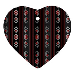 Folklore Pattern Heart Ornament (two Sides) by ValentinaDesign