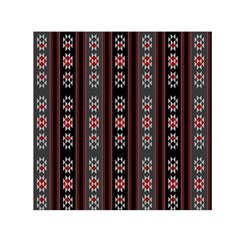 Folklore Pattern Small Satin Scarf (square) by ValentinaDesign
