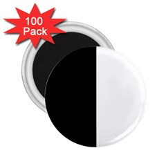 Black And White 2 25  Magnets (100 Pack)  by Valentinaart