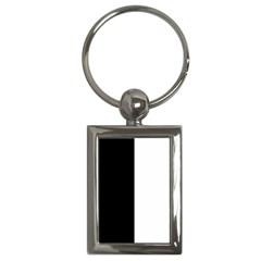Black And White Key Chains (rectangle)  by Valentinaart