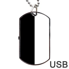 Black And White Dog Tag Usb Flash (two Sides) by Valentinaart