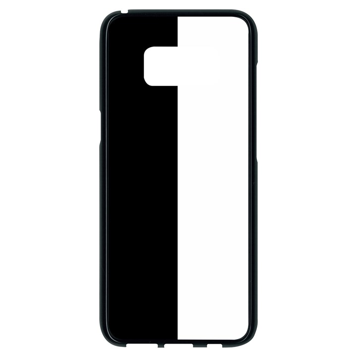 Black and White Samsung Galaxy S8 Black Seamless Case