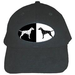 Dalmatian Dog Black Cap by Valentinaart