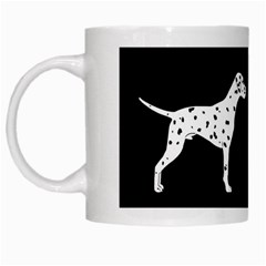 Dalmatian Dog White Mugs by Valentinaart