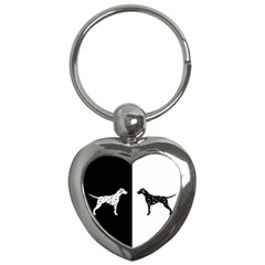 Dalmatian Dog Key Chains (heart)  by Valentinaart