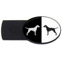 Dalmatian Dog Usb Flash Drive Oval (2 Gb) by Valentinaart