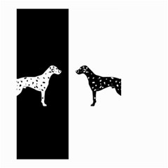 Dalmatian Dog Small Garden Flag (two Sides) by Valentinaart