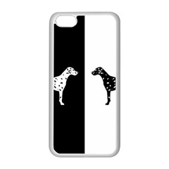 Dalmatian Dog Apple Iphone 5c Seamless Case (white) by Valentinaart
