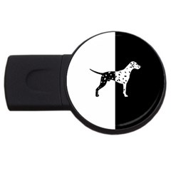 Dalmatian Dog Usb Flash Drive Round (2 Gb) by Valentinaart
