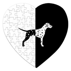 Dalmatian Dog Jigsaw Puzzle (heart) by Valentinaart