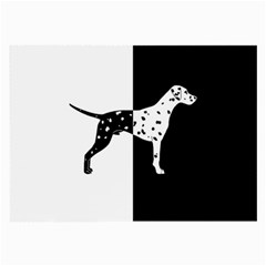 Dalmatian Dog Large Glasses Cloth (2 Side) by Valentinaart