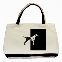 Dalmatian Dog Basic Tote Bag (two Sides) by Valentinaart