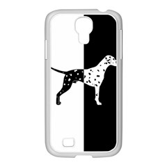 Dalmatian Dog Samsung Galaxy S4 I9500/ I9505 Case (white) by Valentinaart