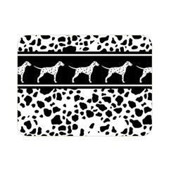 Dalmatian Dog Double Sided Flano Blanket (mini)  by Valentinaart