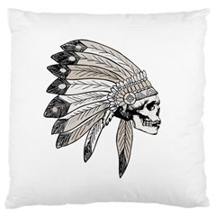 Indian Chef  Large Flano Cushion Case (one Side) by Valentinaart