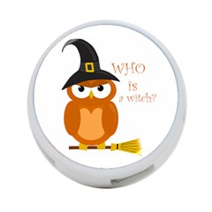 Halloween Orange Witch Owl 4 Port Usb Hub (one Side) by Valentinaart
