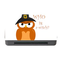 Halloween Orange Witch Owl Memory Card Reader With Cf by Valentinaart