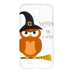 Halloween Orange Witch Owl Samsung Galaxy S4 I9500/i9505 Hardshell Case by Valentinaart
