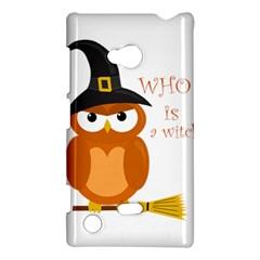 Halloween Orange Witch Owl Nokia Lumia 720 by Valentinaart
