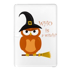 Halloween Orange Witch Owl Samsung Galaxy Tab Pro 12 2 Hardshell Case by Valentinaart